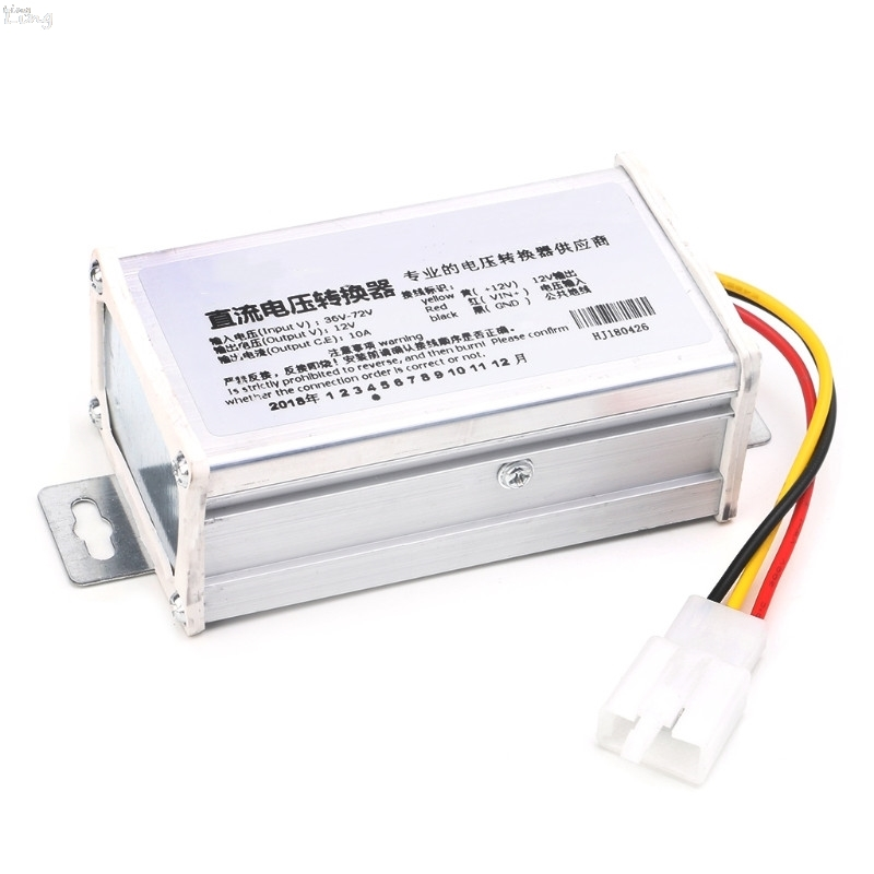 DC 36V 48V <font><b>72V</b></font> To 12V 10A 120W Converter <font><b>Adapter</b></font> Transformer For E-bike Electric image