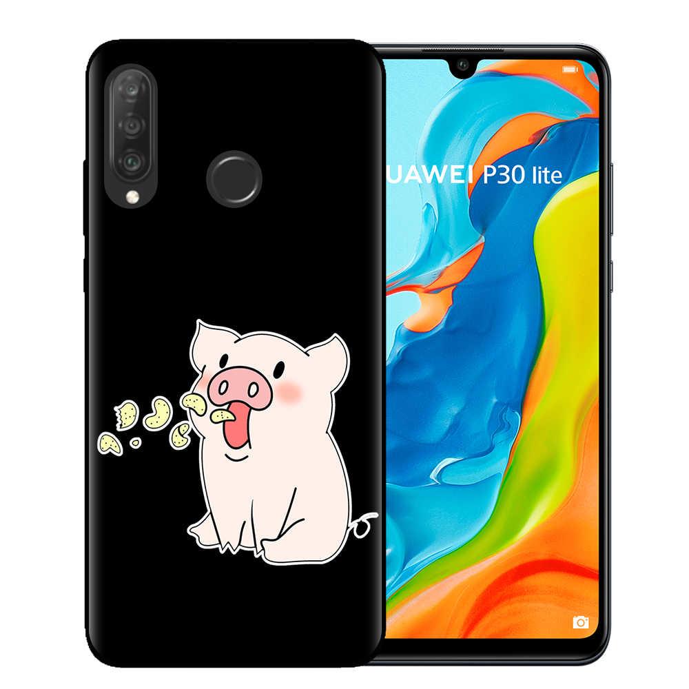 เพื่อนที่ดีที่สุดน่ารักหมูแมวพิซซ่าสำหรับ Fundas Huawei P10 P20 P30 Mate 10 20 30 Lite Pro king Queen คู่กรณี Coque