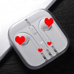 Image 1 - 3.5mm przewodowe słuchawki dla IOS Ear Hook regulacja głośności słuchawki sportowe muzyka podróżowanie dla telefonu komórkowego uniwersalna słuchawka douszna