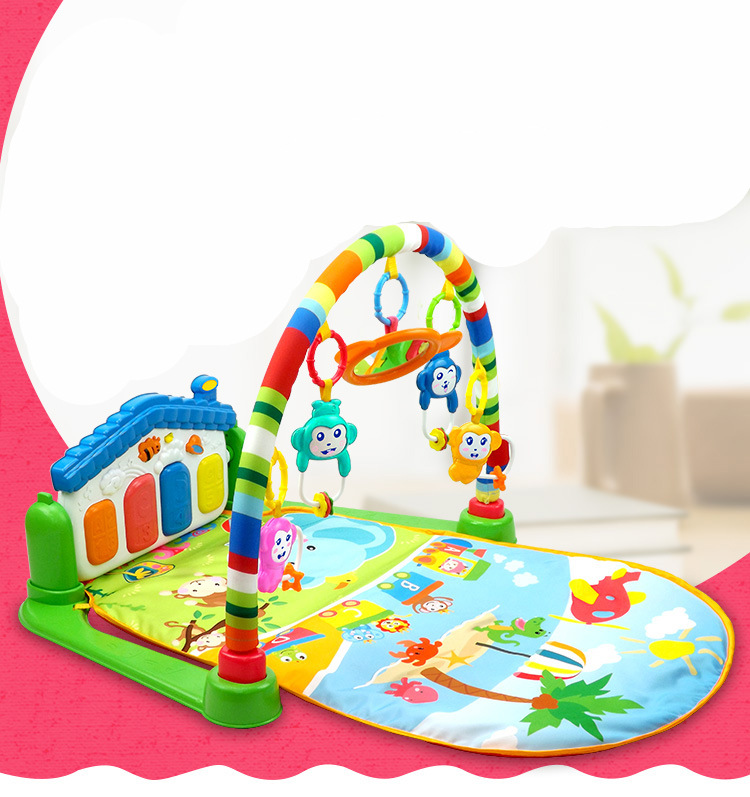 Toy Baby Toys Infant Fitness Rack Baby Crawling Mat Game Blanket Infant Piano Pad