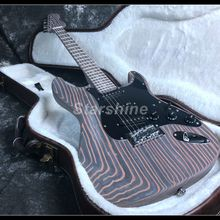 New Full Zebra wood Electric Guitar D-WE1 Unfinished Guitar NO Painting Black Pickguard Tremolo Bridge 3 pcs new high quality unfinished electric guitar neck mahogany rose wood fingerboard jackson model