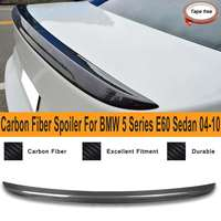 Spoiler Lip For BMW 5 Series E60 Sedan M5 Style 2004 2010 Real Carbon Fiber Rear Trunk Spoiler Wing Auto Replacement Parts
