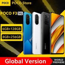 [World premiere em estoque] versão global poco f3 5g smartphone snapdragon 870 octa core 128gb/256gb 6.67
