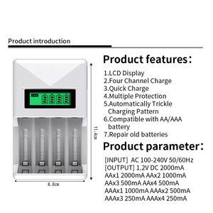Image 4 - PHOMAX – chargeur de batterie intelligent avec écran LCD à 4 fentes, protection contre les courts circuits, pour piles rechargeables AA/AAA NiCd NiMh