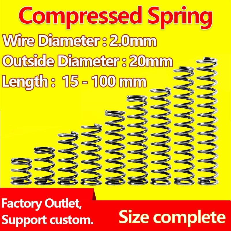Нажимная пластина пружина возврата пружина Сжатый пружинный провод диаметр 2,0 мм, внешний диаметр 20 мм