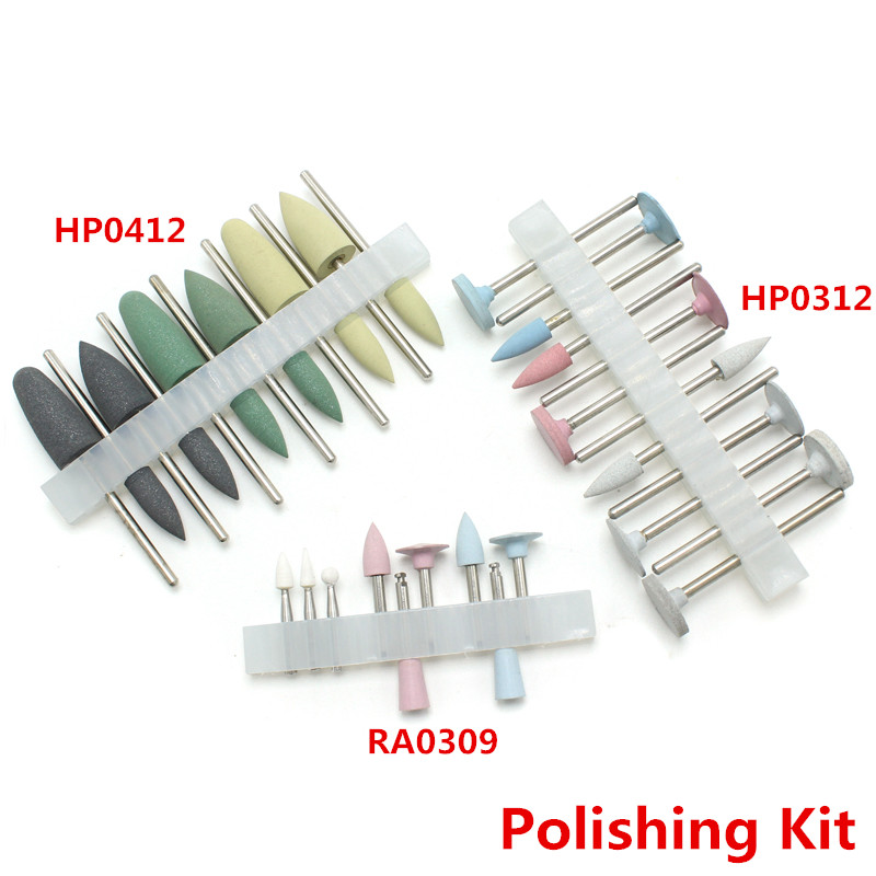 12PCS Silicnone Polisher Grinding Heads for Teeth Drill Machine HP0412