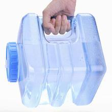 5L 7.5L PC квадратное Прозрачное пластиковое ведро для хранения воды, контейнер для автомобиля, портативное утолщенное ведро с крышкой