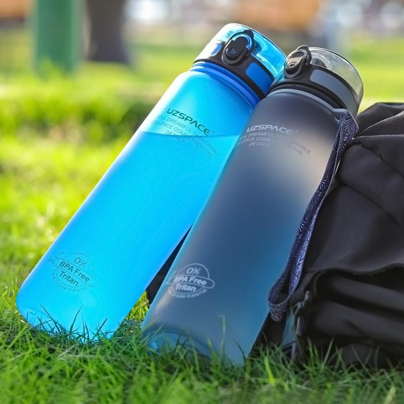 Hot Sports Water Bottle 500ML 1000ML Protein Shaker Outdoor Travel Portable Leakproof Drinkware Plastic My Drink Bottle BPA Free 3