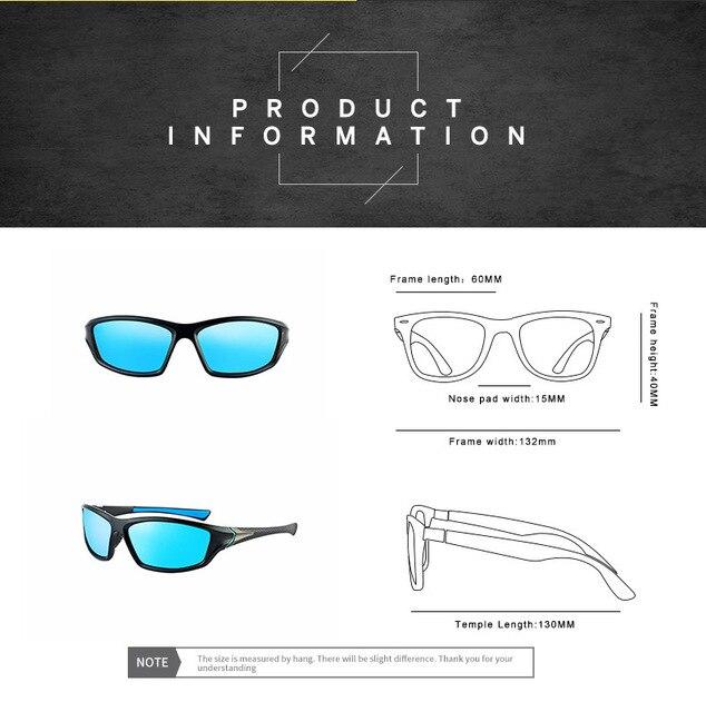 2020 unisex 100% uv400 polarizado condução óculos de sol esportes ao ar livre ciclismo pesca viagem óculos de sol para homens acessórios da bicicleta 6