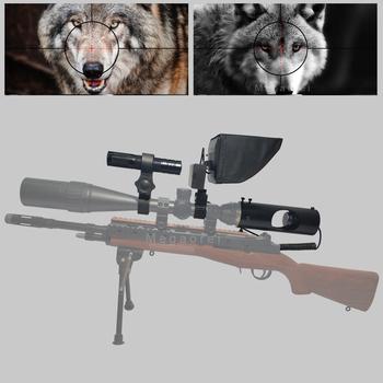 New Hot Hunting optics sight Laser Infrared night vision riflescope Accessories with Flashlight and LCD monitor
