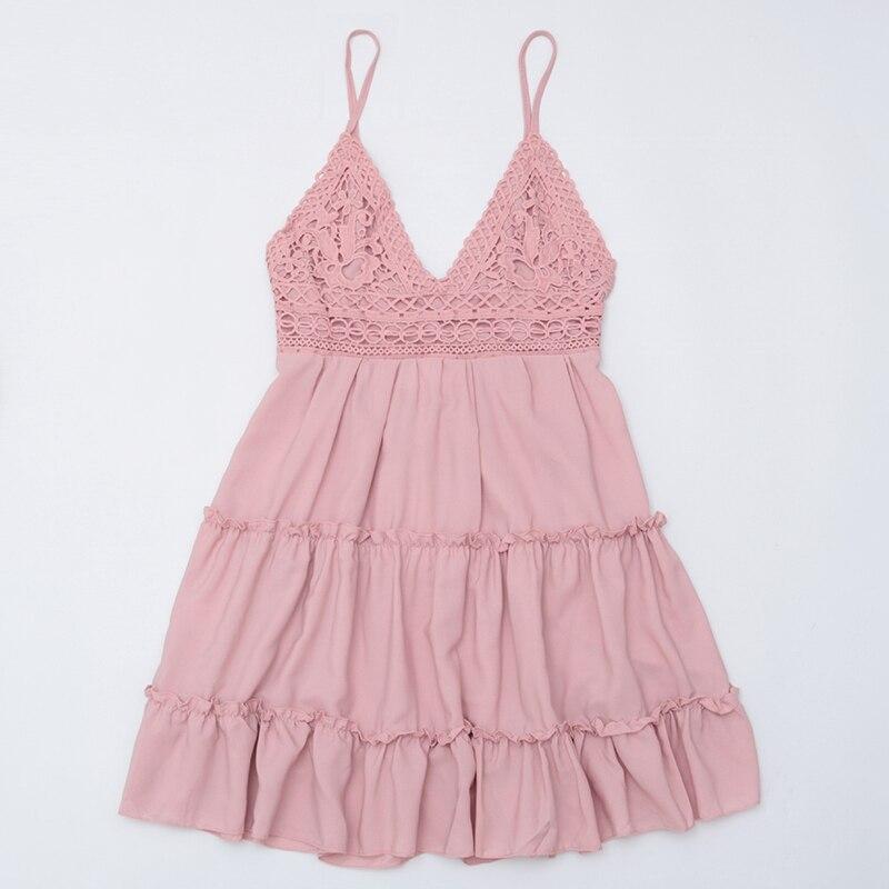 Image 3 - 2020 Sexy Lace Beach Dress Ladies Bikini Swimsuit Cover Up Tunics Beach Bathing Suits Swimwear Cover Up Beachwear Saida De PraiaCover-up   -