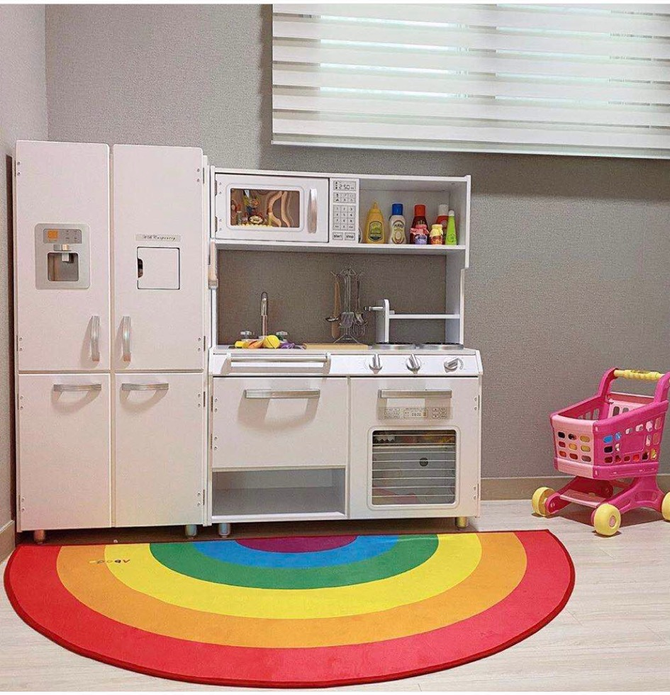 Rainbow photography prop mat baby boys girls room decoration door mat newborns floor carpet Kids Rug Activitys Games Toys Decor image