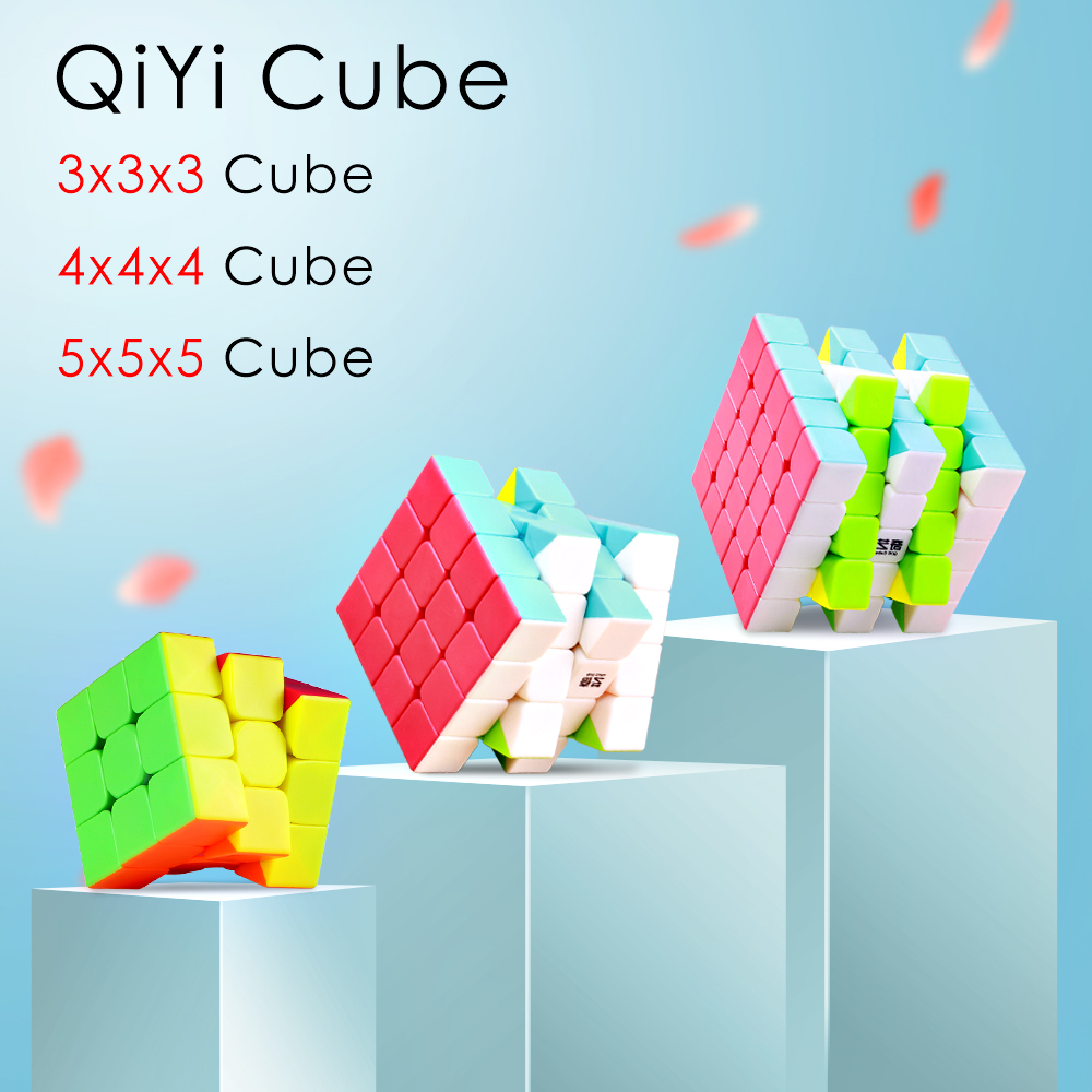 <font><b>Qiyi</b></font> Warrior <font><b>S</b></font> 3x3x3 magic speed cube professional stickerless <font><b>Qiyuan</b></font> <font><b>S</b></font> 4x4x4 puzzle cubo magico Qizheng <font><b>S</b></font> 5x5x5 Cubes Toys Gift image