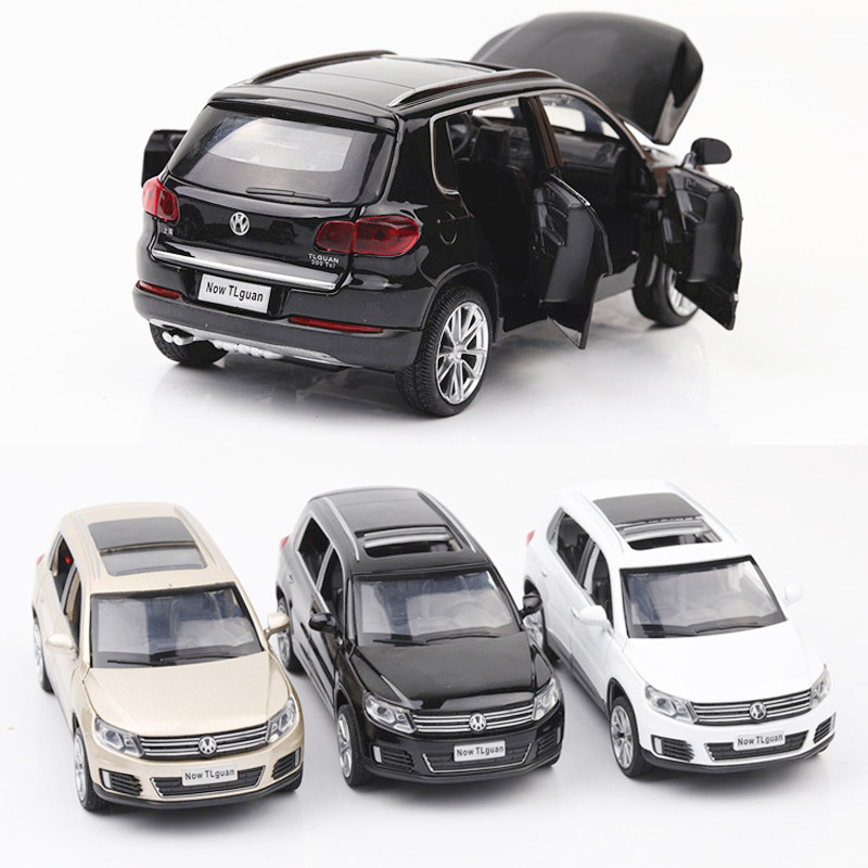 1:32 Volkswagen Tiguan Car Model Alloy Car Die Cast Toy Car Model Pull Back Children's Toy Collectibles Free Shipping