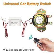 Aislador de interruptor de batería de coche de 12V con Control remoto solenoide electromagnético desconexión Terminal de energía aislador de batería + guantes
