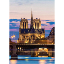 7Pink Notre Dame de Paris Styling 5D DIY Crystal Diamond Painting Family Hand Painted Cross Stitch For House Wall Decoration Art