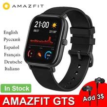 新しいamazfit gtsグローバルバージョンスマート腕時計huami心拍数gps 5ATM防水スマートウォッチのサポートandroid ios