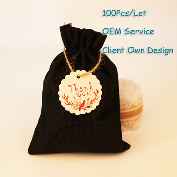 Velvet Bag Tag Organza Bag Tag Natural Burlap Bag Tag White/Brown/Black/Black Kraft Paper Card Printing Hangtag Can Customized image
