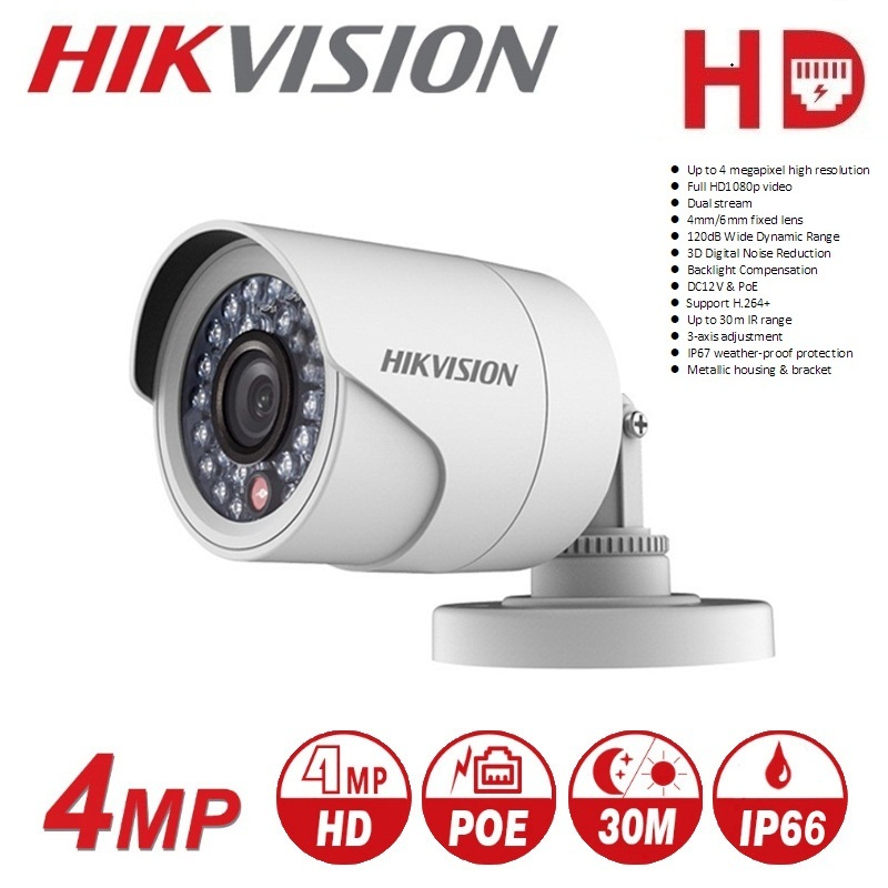Hikvision DS-2CE16D0T-IRF CVBS/AHD/TVI/CVI 2MP HD1080P IR 20m Outdoor And Indoor Wild Angle Night Vision Waterprooof HD Camera