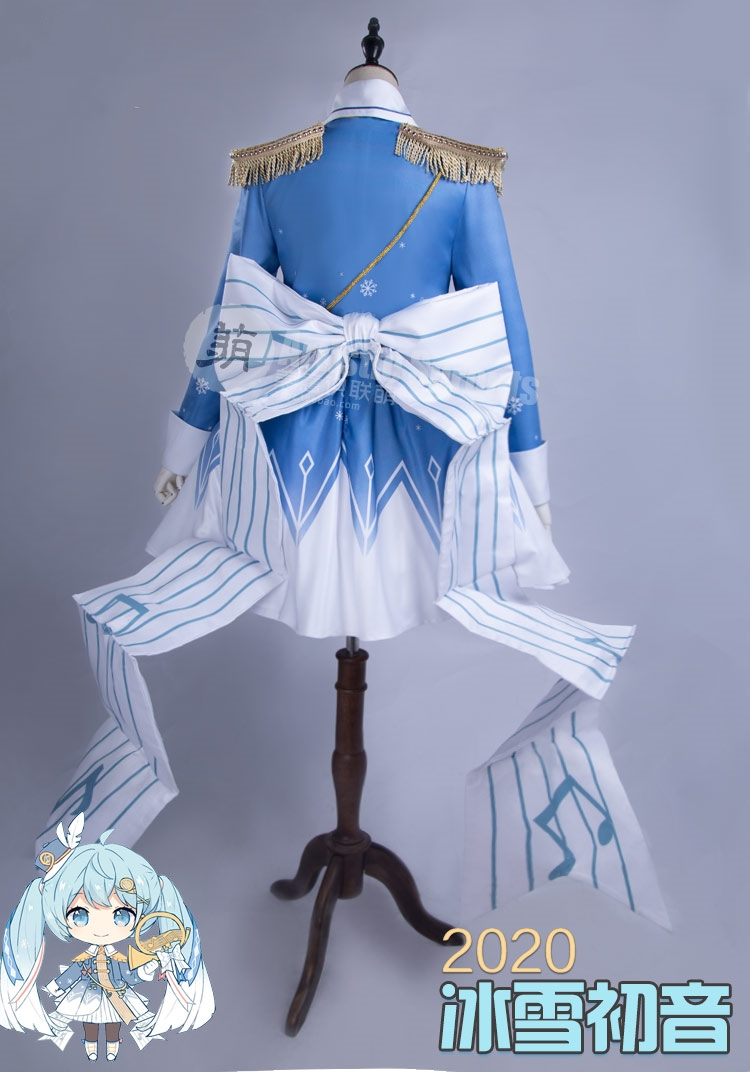 Anime Vocaloid Hatsune Miku Cosplay Costume Snow dress Full Set