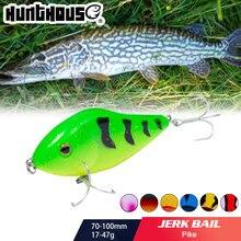 Hunthouse isca de pesca lw130pencil vib jerkbait crankbait 7cm/17g 10cm/47g stickbait arco íris cor para baixo de pesca pesca