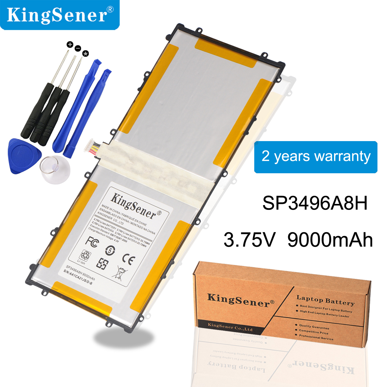 KingSener 3.75V 9000mAh SP3496A8H Battery For Samsung Google Nexus 10 GT-P8110 HA32ARB P8110 Tablet Batteries + Free Tool