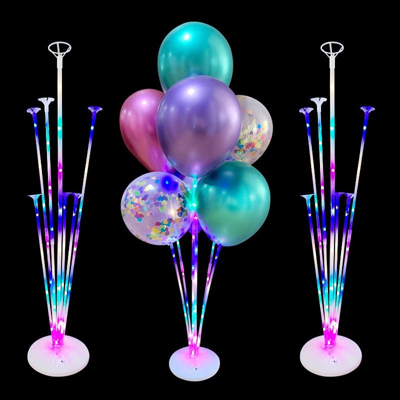1/2 комплекта, светодиодный светильник, стойки для шаров, держатель, колонна, детский шар для дня рождения, палочка для свадебного декора, бал...