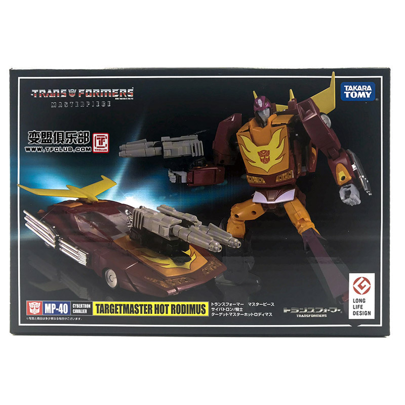 Takara Tomy Transformers <font><b>MP40</b></font> MP-40 Hot Rodimus Hot Rod Robot Car Transformation Figure Action Kids Gifts image