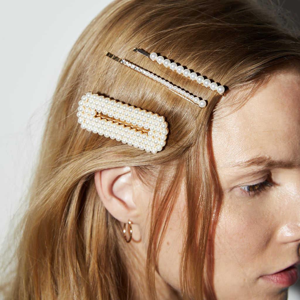 Dvacaman 2019 ZA simulé perle épingles à cheveux ensemble pour femmes corée perle cheveux Clips chapeaux coiffure mode mariage femme bijoux