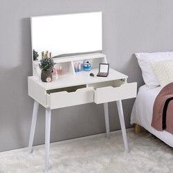 Panana Fashion Modern Meja Rias Berpakaian Gadis Kamar Tidur Make-Up Cermin Furnitur Meja dengan Tinja Pengiriman Cepat