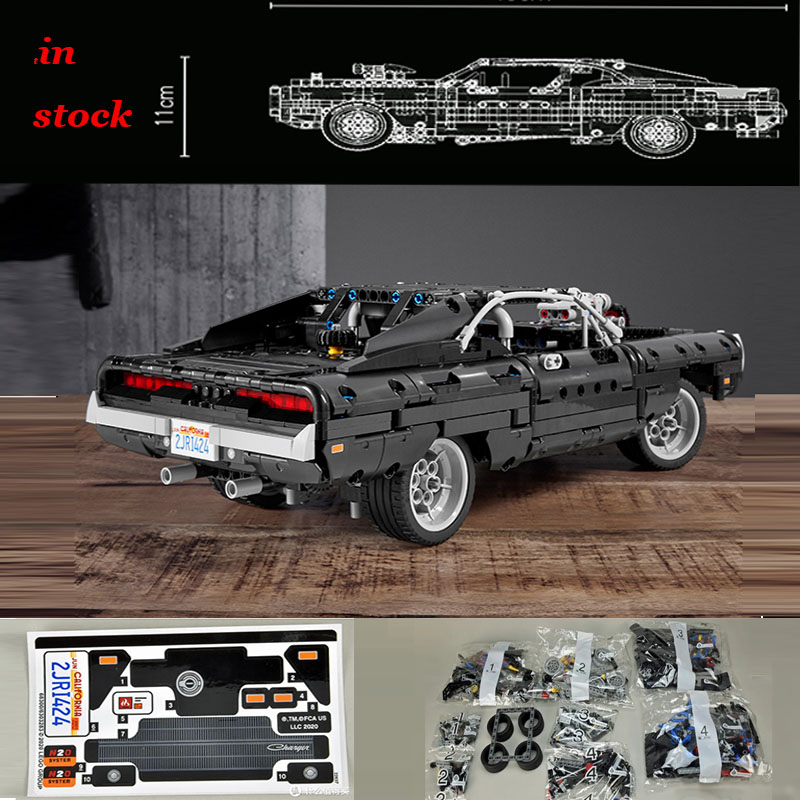 2020 new 1:13 1384PCS Lepining 42111 Dodge Dodge Charger Racing building block toy children's DIY birthday gift 1