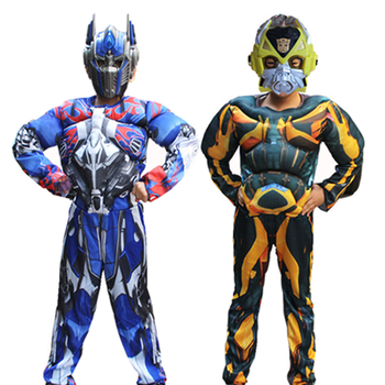 Superhero Optimus Prime and Hornet Costume Mask Combination, Halloween Children's Muscle Cosplay Gift - discount item  20% OFF Costumes & Accessories