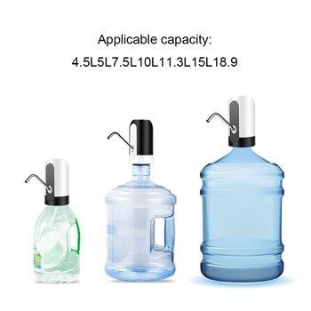 Pompa wody butelka Usb ładowanie automatyczna pompa wody pitnej przenośne elektryczne dozownik do wody przełącznik na urządzenie pompujące wodę tanie i dobre opinie Water Pump