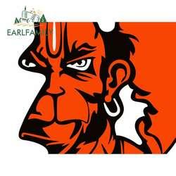 EARLFAMILY 13cm x 10.9cm for Angry Hanuman Bajrang Anime Car Stickers Vinyl JDM Bumper Trunk Truck Graphics DIY Fine Decal