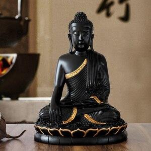 Image 2 - Reçine heykelciği bouddha büyük buda dekor ev dekor buda heykeli ev dekorasyon aksesuarları oturma odası için buda heykelcik
