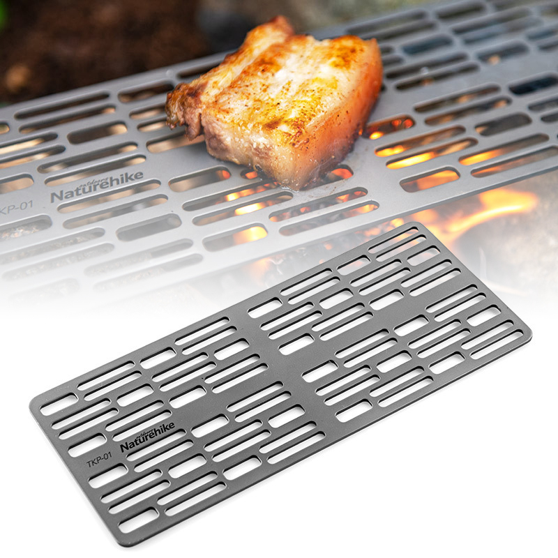 Titanium BBQ Grill Mat Cooling Camping Cooking Rack Non stick Baking Rack Grill With Carry Bag