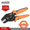 IWISS SN 58B = SN 28B + SN 48B Crimpen Zangen für DuPont 2 54 2 8 3 96 4 8 6 3 Rohr/Isolierung Terminals Elektrische klemme Werkzeuge-in Zangen aus Werkzeug bei