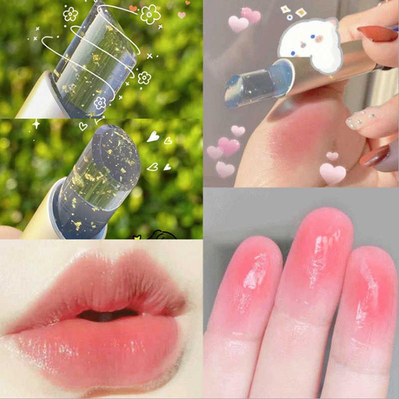 Baru Crystal Jelly Lipstik Sihir Suhu Warna Berubah Bibir Nutritionous Mudah Dipakai Tahan Air Tahan Lama Pelembab