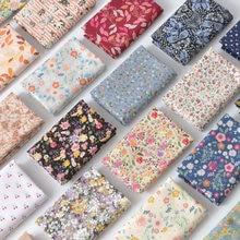 145x50cm pastoral floral verão popelina tecido de algodão roupas para crianças diy pano fazer cama quilt decoração para casa 160-180 g/m