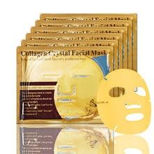 лучшая цена Luxury Hydrating Nourishing Women Men Collagen Gold Moist Skin-friendly Face Mask For All Skin Types Skin Care Tool