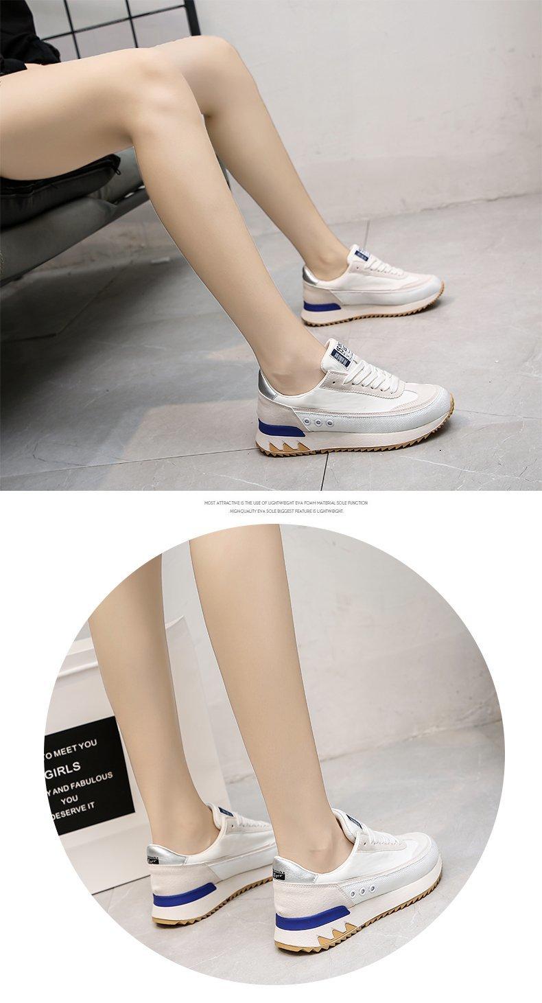 Plataforma sapatos esportivos casuais respirável mulher tênis