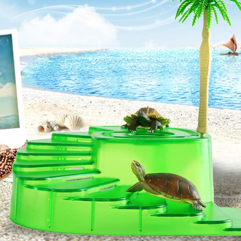 Turtle Drying Platform Sun Roof Aquarium Fish Tank Landscaping Habitat Snake Hide Hermit Crab Reptile Hide Cave Reptile Supplies