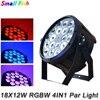4xLot Good Quality Led Par Light Quad 18x12W 4in1 RGBW Beam Wash Dmx Par Can American Dj Plastic Led Flat Stage Lights Led Lamps