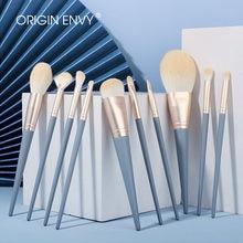 ORIGIN ENVY Makeup Brushes 10pcs Blue Eyeshadow Blending Powder Foundation Eyebrow Brushes Face Eye Cosmetic Tools
