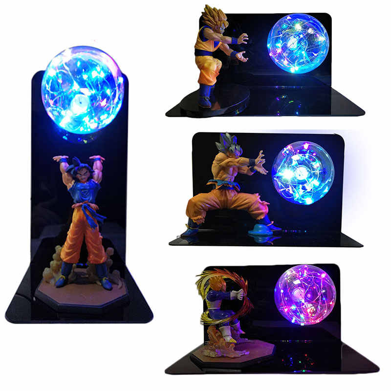 Dragon ball super goku vegeta gogeta figuras led luz dragon ball lâmpada ultra instinto goku quarto decorativo luz da noite presentes