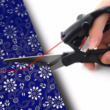 1 PC Laser Guided Scissors for Fabric Sewing Cut Sewing Cut Straight Fast Professional home Crafts Wrapping Scissors DIY Tool