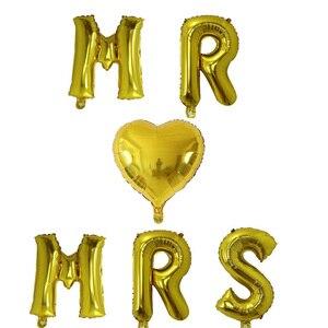 Image 5 - 5pcs 30inch Argento In Oro Rosa Mr Mrs Sposa di Essere Lettera Palloncini Foglio di Alluminio di Nozze il Giorno di san valentino impegnati Decorazione Del Partito