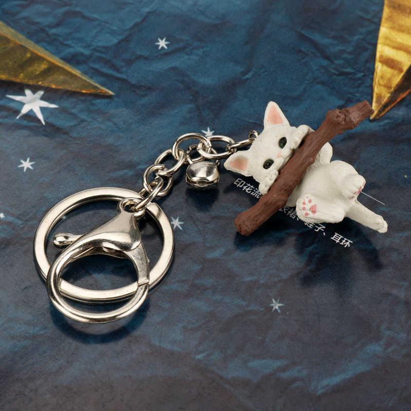3D Mèo Móc Khóa Dễ Thương Móc Khóa Dành Cho Nữ Mèo Con Mèo May Mắn Móc Khóa Móc Khóa Sáng Tạo Portachiavi Chaveiro Llaveros Túi charm