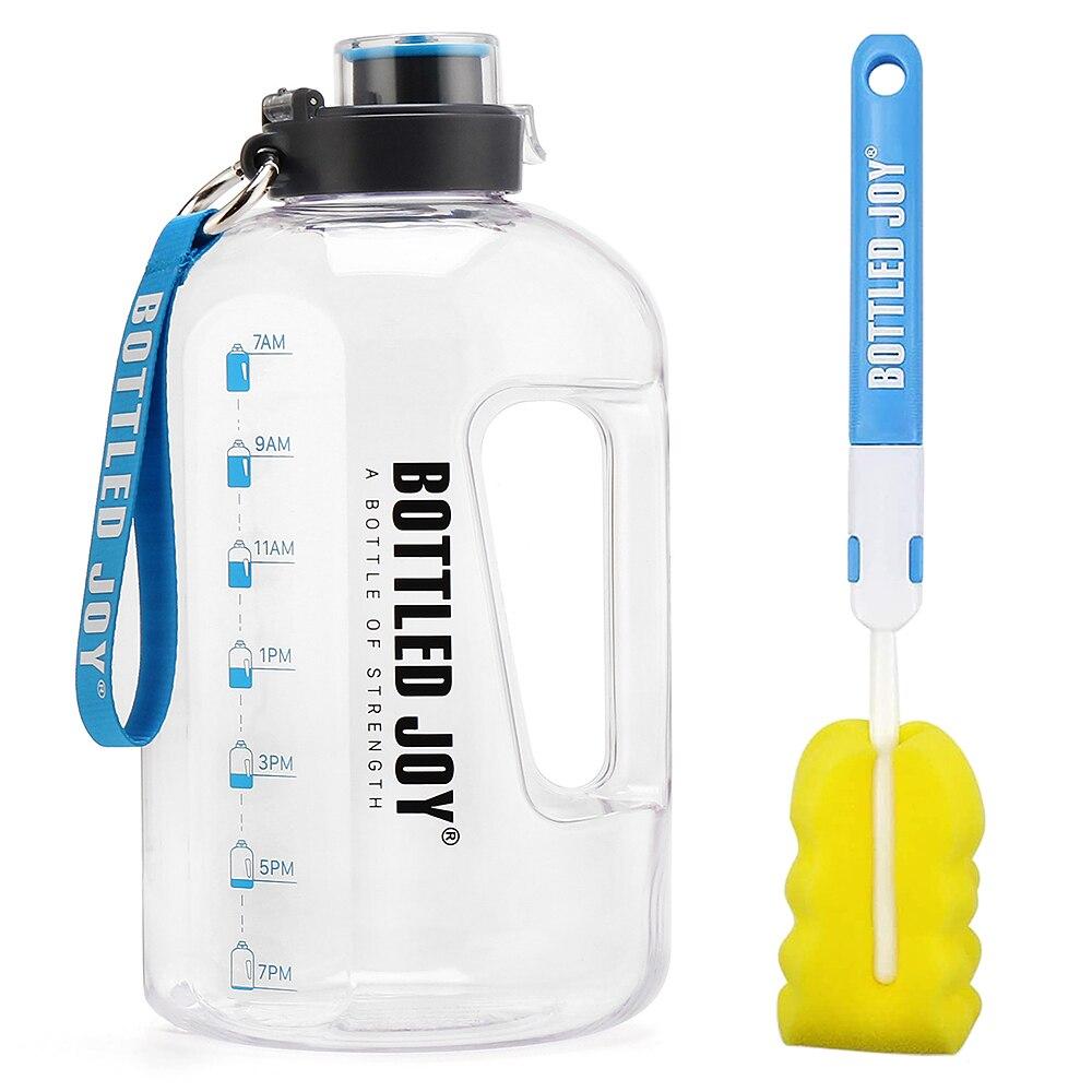 Спортивная бутылка для воды 1,5л 2,5л 3,7л, герметичная портативная прозрачная большая емкость, уличный чайник для воды, кувшин для кемпинга, BPA ...