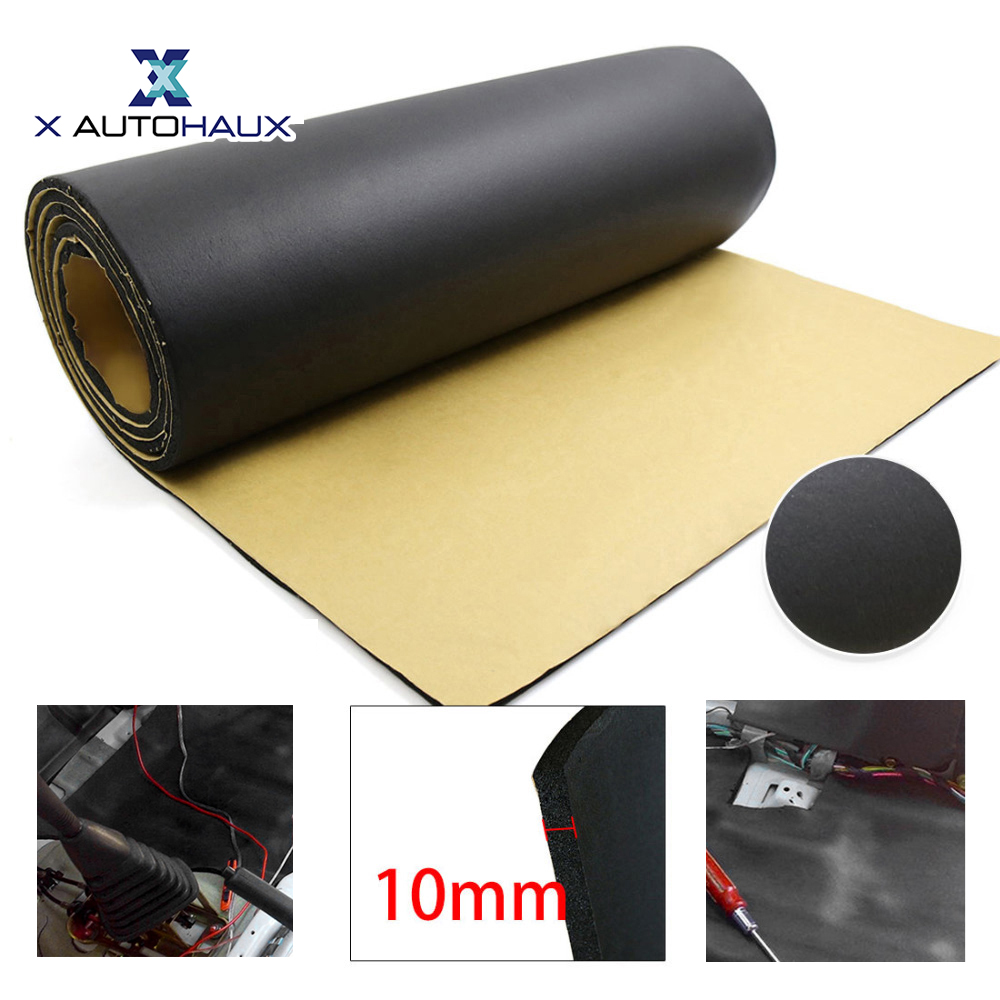 X AUTOHAUX 5mm/8mm/10mm Super Thickness Rubber Foam Car Floor Tailgate Sound Insulation Deadener Mat